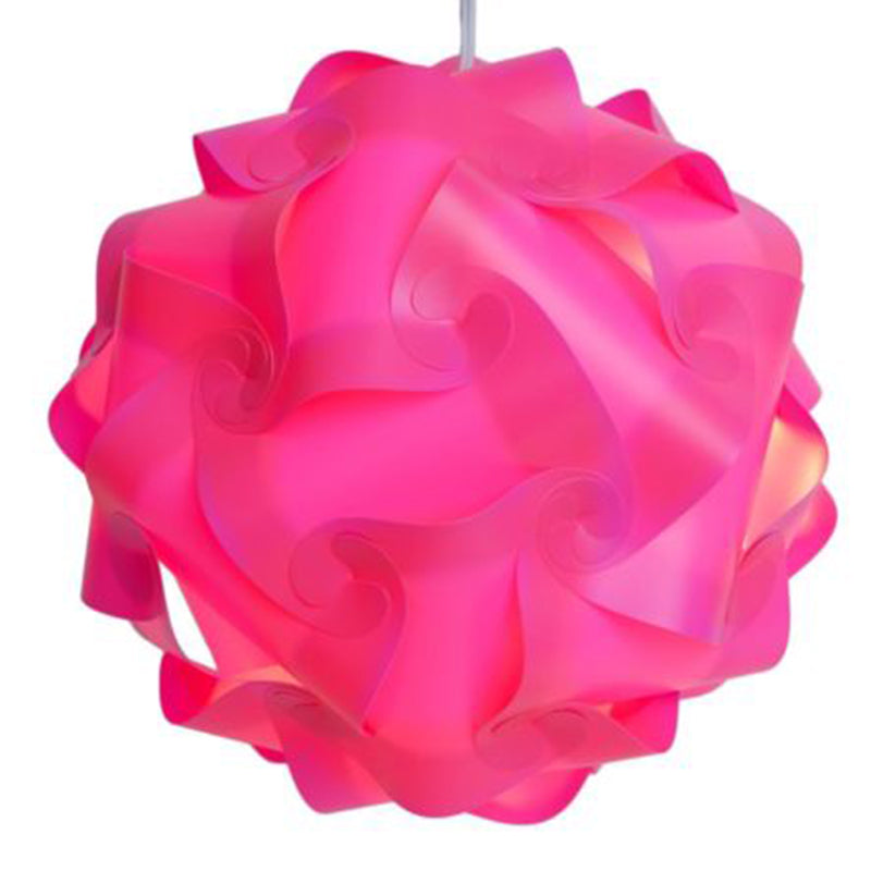 30Pcs DIY Modern IQ Puzzle Jigsaw Light Lamp Shade Ceiling Lampshade SM 8 Color