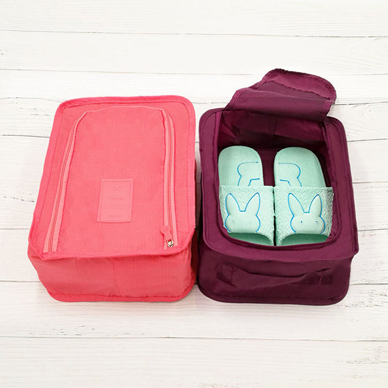 8f8544b139ad Portable Travel Shoes Storage Outdoor Tote Pouch Zip Waterproof Carry  Organizer