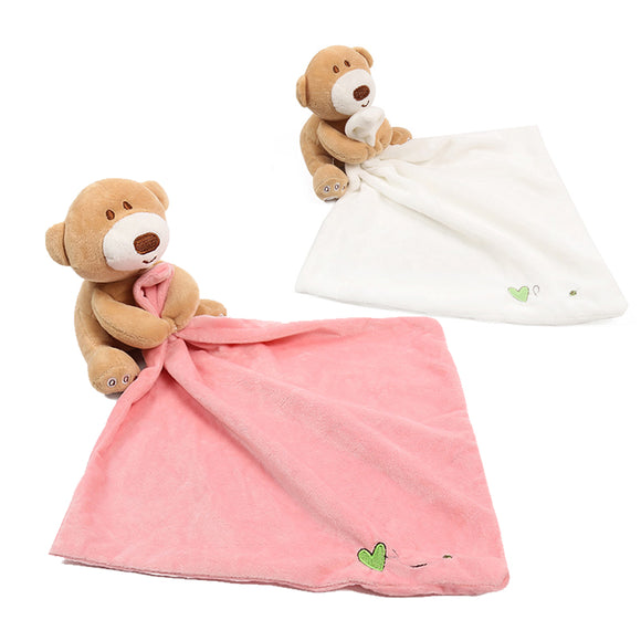 Cute Baby Toddler Nursery Soft Smooth Bath Security Cartoon Bear Toy Blanket
