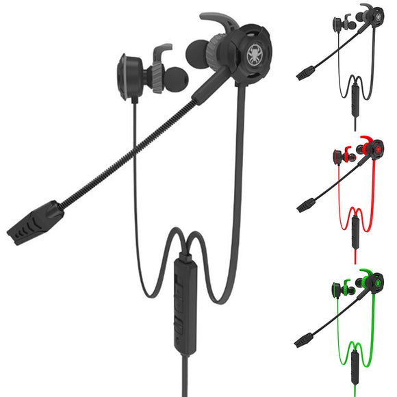 Fashion In-ear Wired Earphone Gaming Sports Headset Stereo with Microphone
