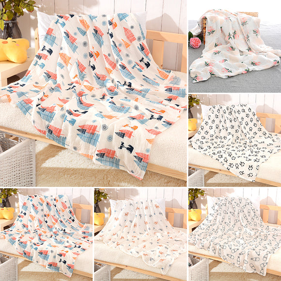 1 * Lovely Newborn Baby Cotton Swaddle Blanket Muslin Sleeping Wrap Cloth Soft