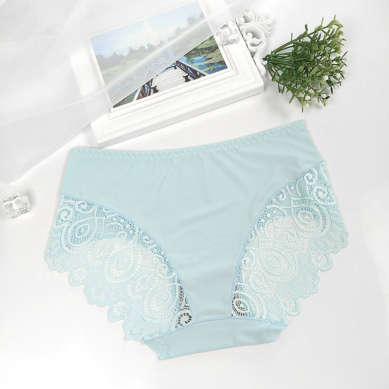 b67838956cd ... Women Breathable Lace Soft Thong Sexy Lingerie Briefs Hipster Underwear  Panties ...
