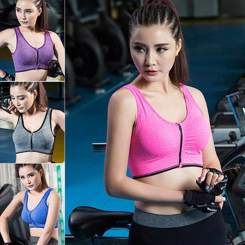 c6ab16031 ... Women Yoga Fitness Stretch Workout Tank Top Seamless Racerback Padded Sports  Bra ...