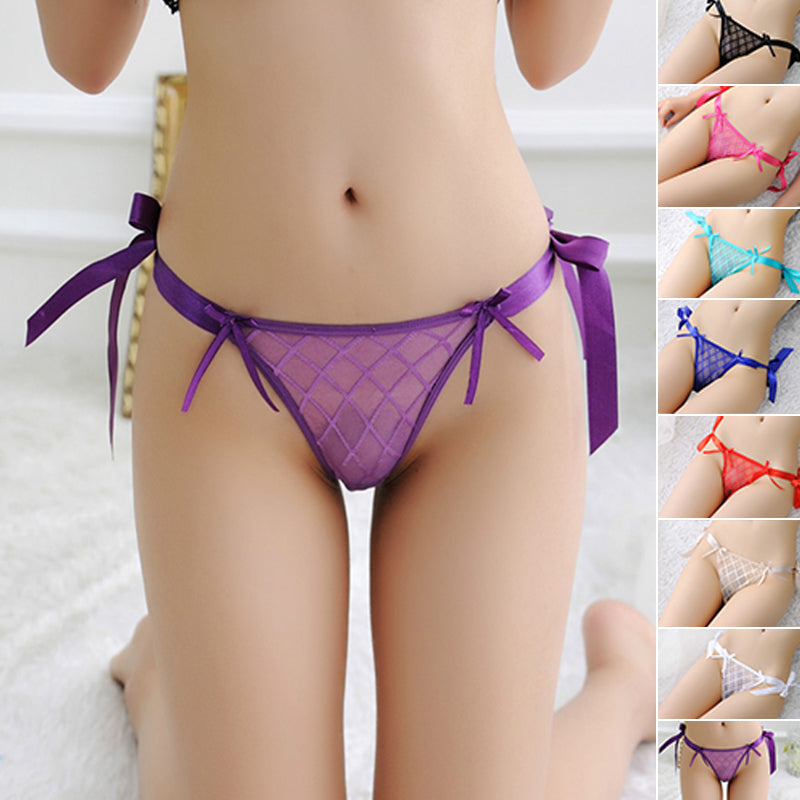 deba9a3c62fc ... Women Sexy Lace Mesh Thongs V-G-string Panties Lingerie Underwear See  Through ...