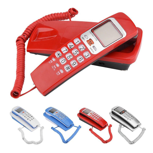 Four Colors Home Telephone Wall Mount Corded Phone Desktop Caller ID Fixed Dial