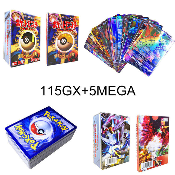 115 GX + 5 MEGA 115 GX + 5 MEGA Cards Holo Flash Trading Cards Bundle Mixed LOT