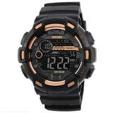 Men's Fashion 50M Waterproof Digital Movement Round Dial Outdoor Sports Watch