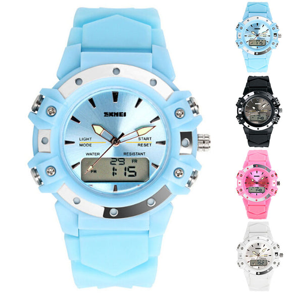 Women Men Fashion Electronic Waterproof Outdoor Analog+Digital Movement Watch