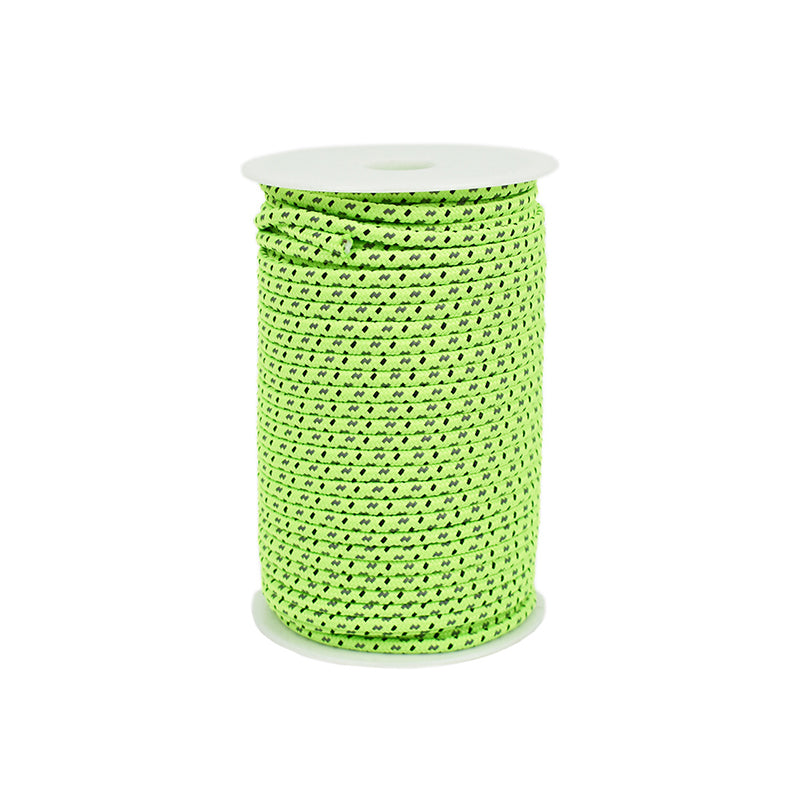 4mm Reflective Awning Cord Paracord Tent Reel Roll Guy Rope Line Outdoor JS
