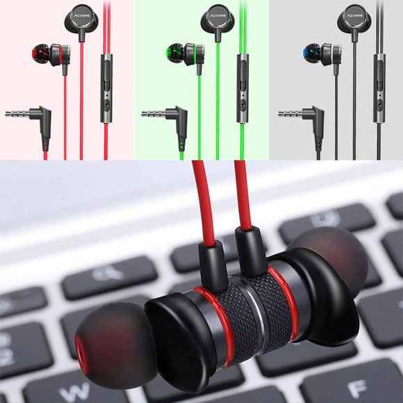 Portable New Fashion In-ear Gaming Wired Earphones Headset with Microphone