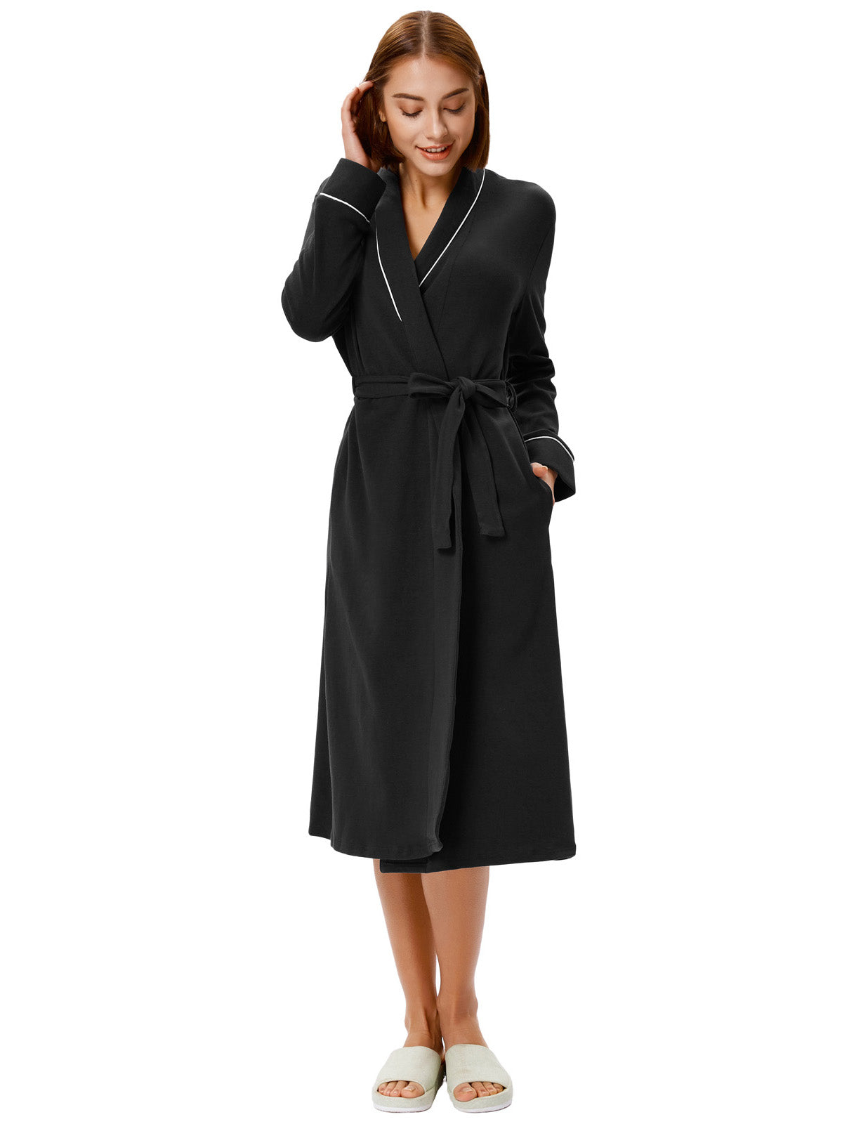 ... 2018 Ladies Luxury Cotton Soft Bath Spa Robe Towelling Dressing Gown  With Belt ... a816598f5