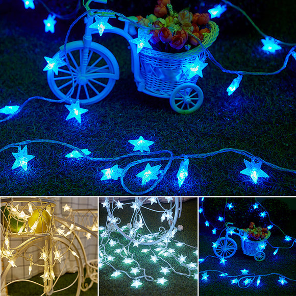 9.8ft Stars String LED Fairy Lights Star Shaped Warm White String Lights Decors