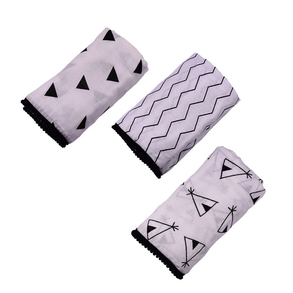 Newborn Baby Soft Pure Cotton Swaddle Sleeping Blanket Wrap Bath Towel 3 Style