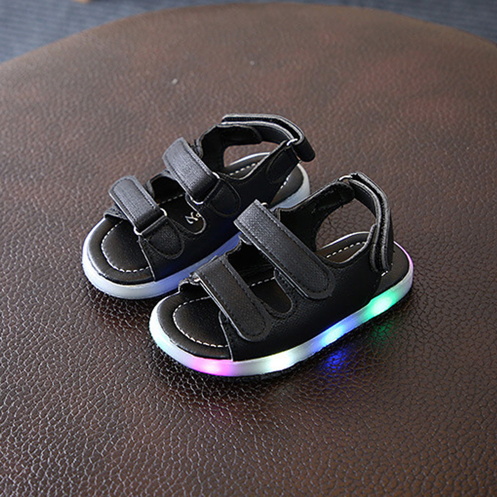 f9c5fa719e6d ... Cute Baby Boys Girls LED Lights Sandals Toddler Kids Beach Shoes 8-11 4  Colors ...