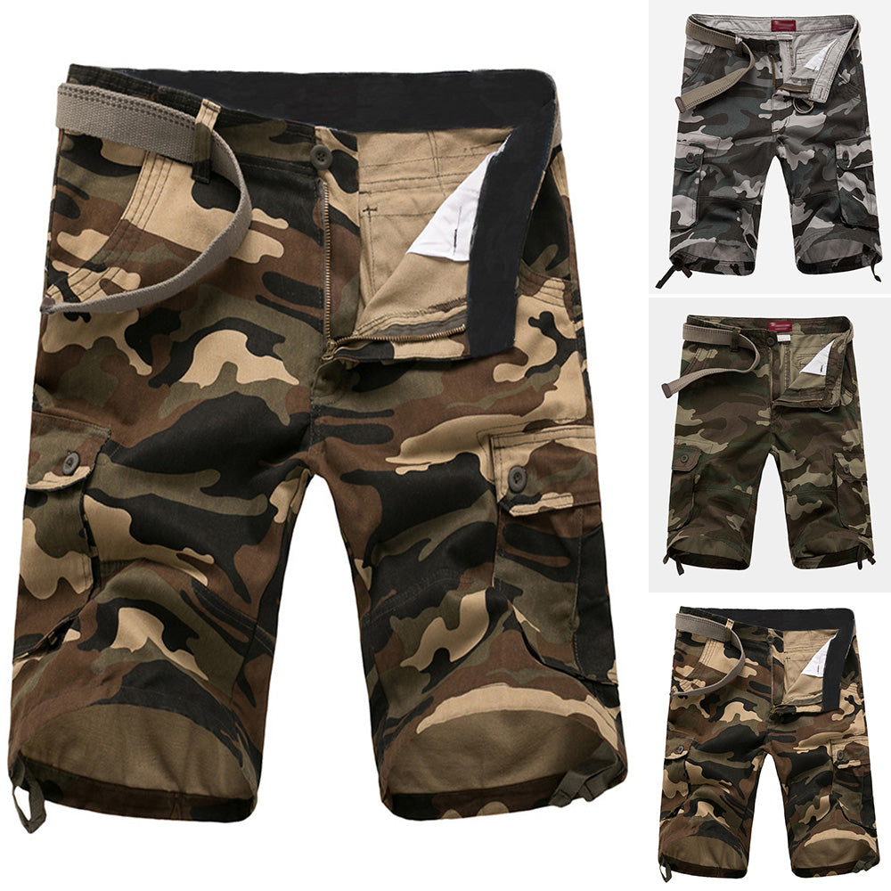570d68f30f Summer Mens Cargo Shorts Camo Camouflage Pants Trendy Sports Work Army  Trousers ...