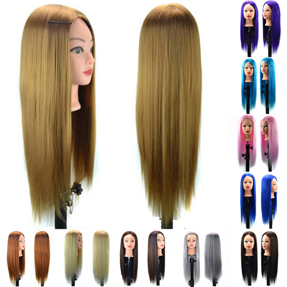 Human Hair Salon Hairdressing Training head Artificial Hair Mannequin Doll  DIY