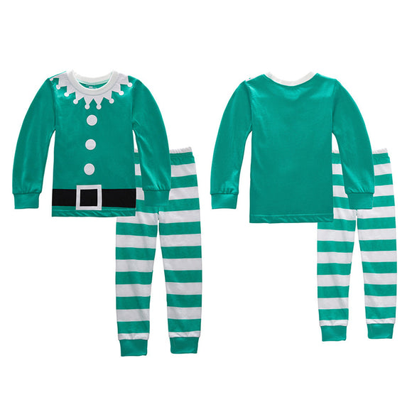 2017 Kids Boys Girls Cute Round Neck Long Sleeve Christmas Xmas Party Sleepwear