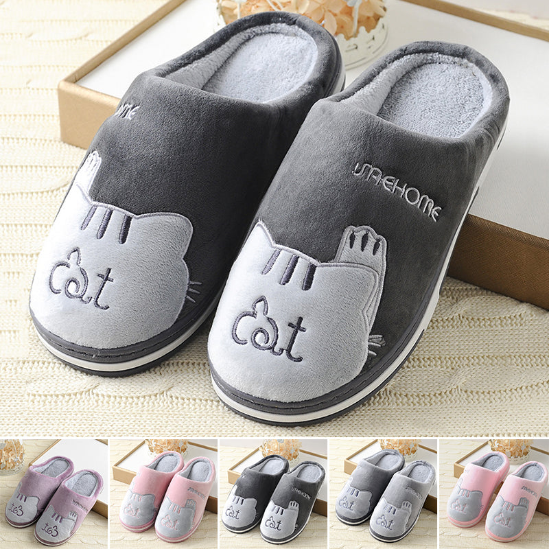 4f0c93021e0 New Cute Cozy Cat Paw Slippers Men Women Home Warm Winter Slippers Indoor  Shoes ...