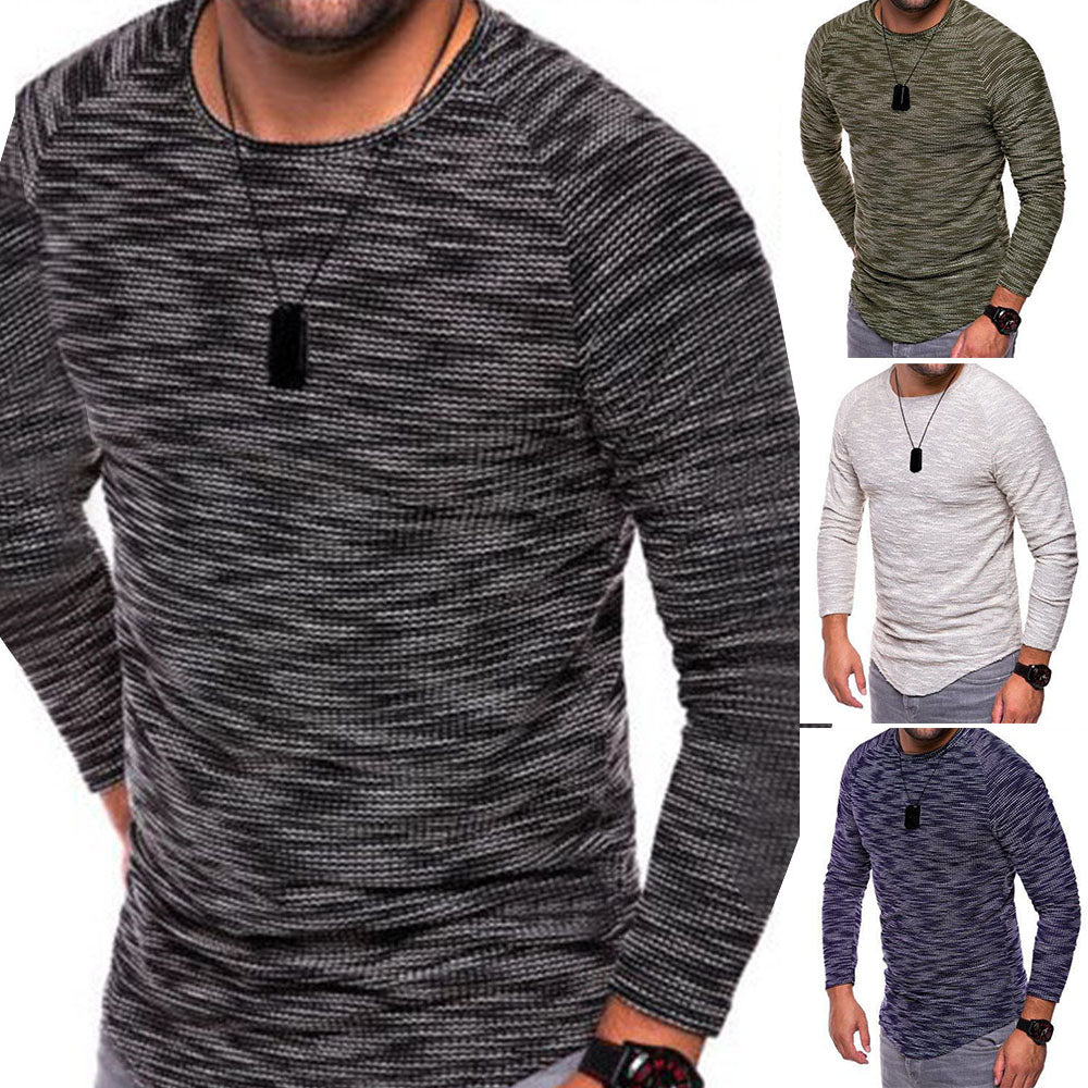 9ee321607 Fashion Mens Cotton Blend Crew Neck Knit Boy's Pullover Jumper Sweater Top  M- ...