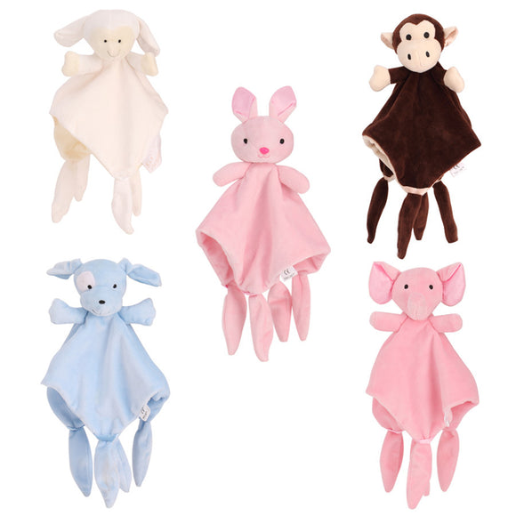 Baby Boys Girls Sleepytot Animal Comforter Sleep Towel Blanket Soft Cot Toy Mini