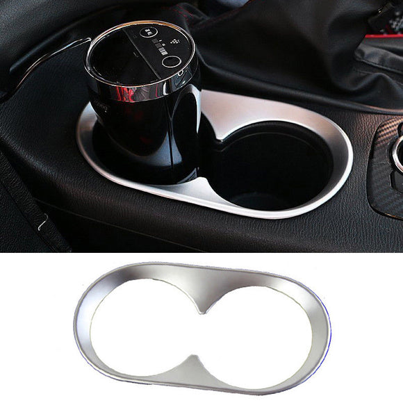Chrome Center Console Cup Holder Cover Trim Garnish For Mazda 3 Axela 2014-2016