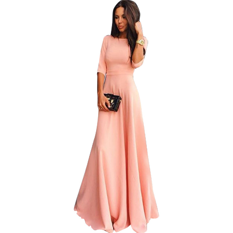 ... Women Formal Long Ball Gown Party Prom Cocktail Wedding Bridesmaid  Evening Dress 3441b5591