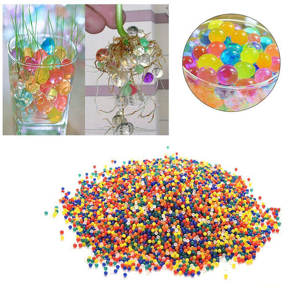 Water Plant Flower Ball Crystal Pearls Jelly Gel Bead Soil Mud Toy Refill Garden