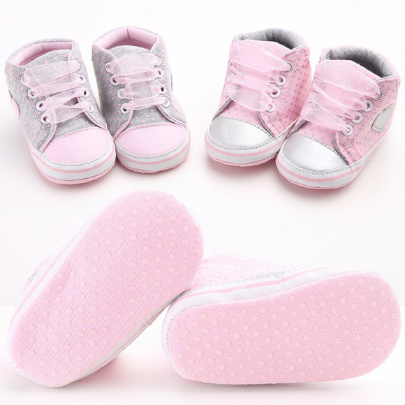 0-18M Toddler Baby Girl Sole Crib first Shoes Sneaker soft Newborn Casual Boots