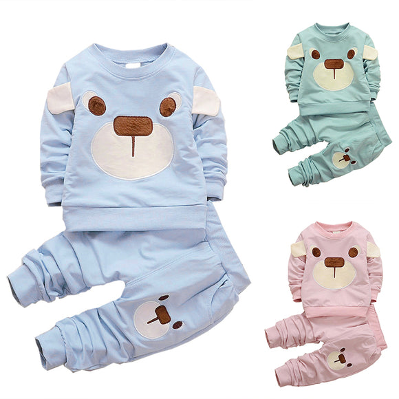 2017 Cute 2pcs Toddler Baby Boys Kids Shirt Top Long Pants Outfits Gentleman Set