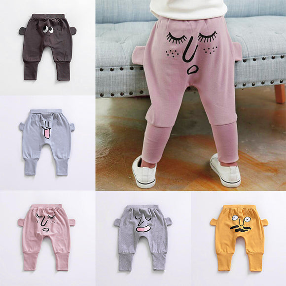 Kids Boys Toddler Baby Infant Cartoon Pattern casual Harem Pants sport Trousers