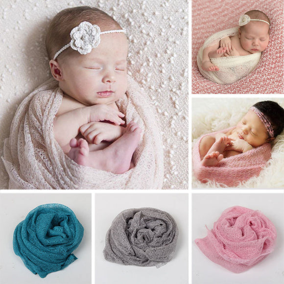 8 COLORS Baby Infants Knitted Wraps Blanket Swaddle WARM Cover Crib Prop Cotton