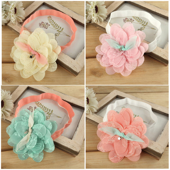 Baby Girl Cute  Lace Flower Hair Band Lovely Headwear