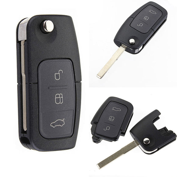 Remote Key Fob 3 Button 433MHz With Chip 4D60 for Ford Focus Mondeo C Max S Max