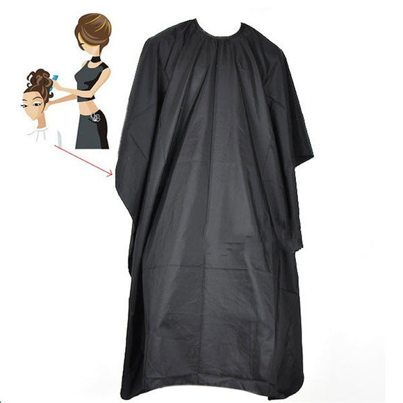 Salon Hair Cut Hairdressing Hairdresser Barber Cape Gown Cloth Waterproof Black