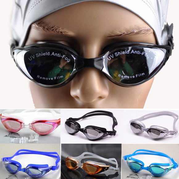 Adults Swimming Goggle Anti-fog With Ultra Violet Protection Lightweight Goggles