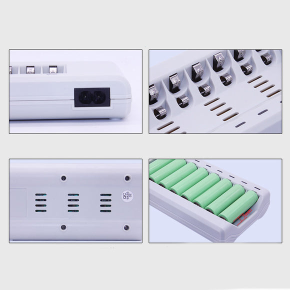 8 Slots AA /AAA NiMH NiCD Rechargeable Battery Smart Battery Charger