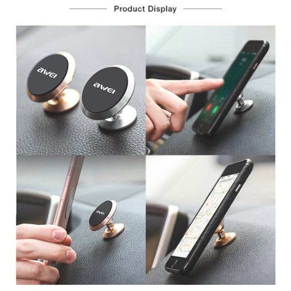 360 Degree Rotate Creative Strong Magnetic Car Mount Mobile Phone Holder Bracket