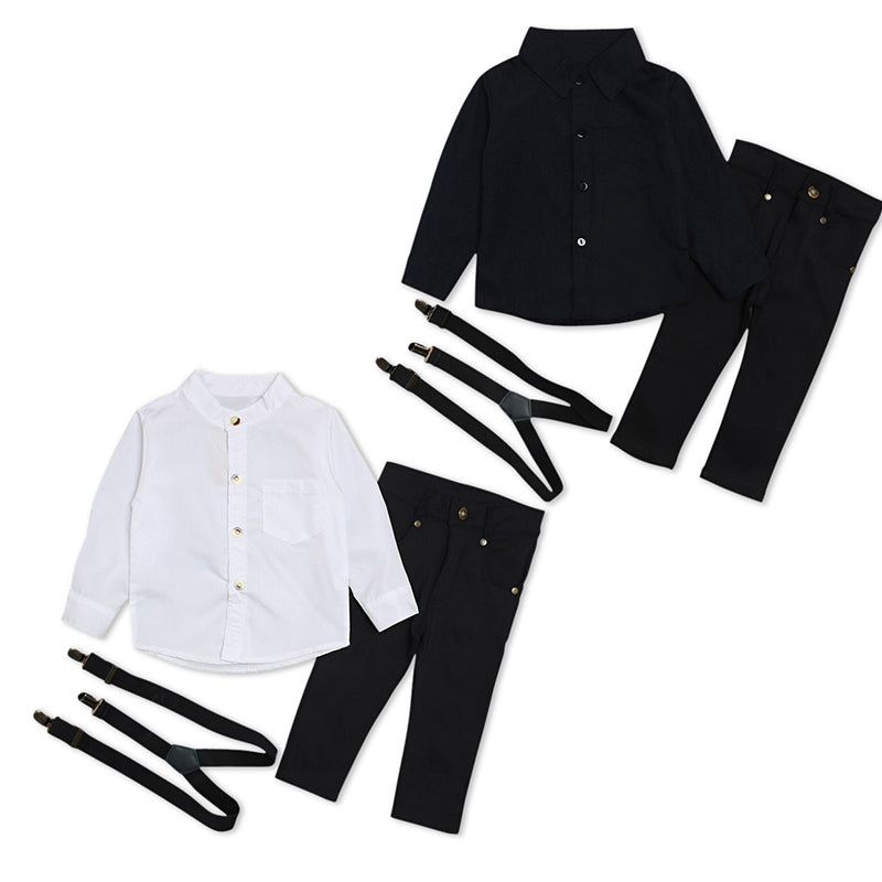 419dfb031 ... 1Set Baby Clothes Kids Baby Boys Wedding Party Suit Top+pants Tuxedo  Outfits Set ...