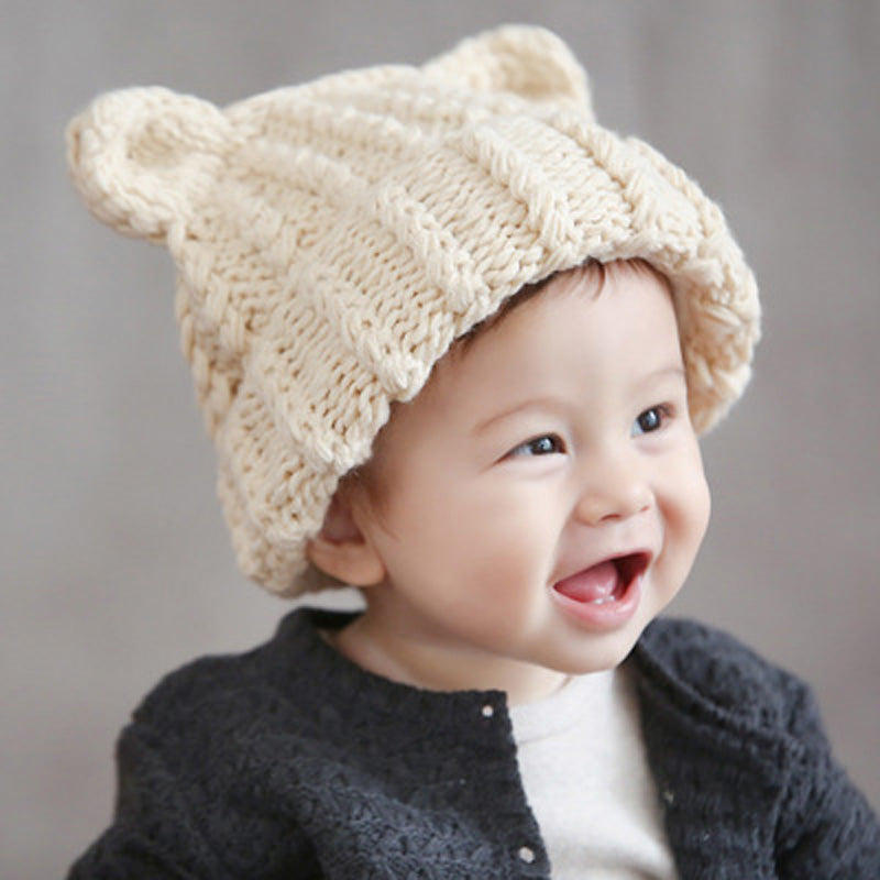 8387f3ca1ae ... Newborn Baby Boy Girl Infant Kids Cute Winter Warm Beanie Wool Cap Soft Knit  Hat