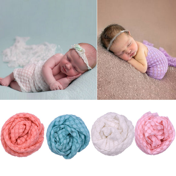 Photo Props Elastic Lace Bubble Wrapped Cloth For Newborn Baby Photography Kits