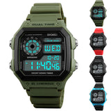 Men's Fashion Casual LED Outdoor Sports Watch Digital Movement Wrist Watches