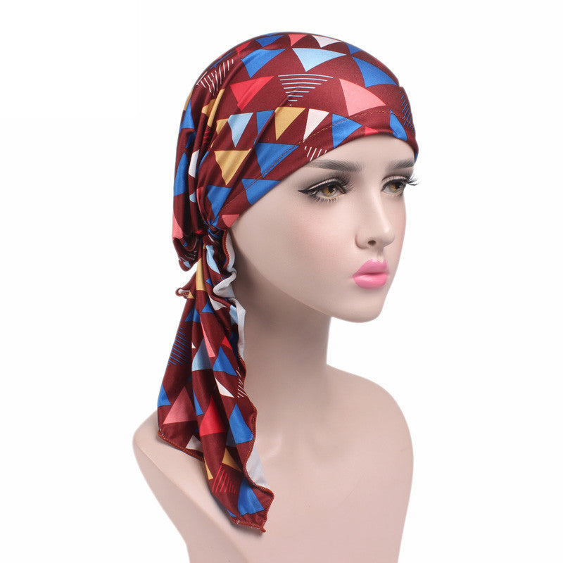 a4219139da2 ... Muslim Women Hijab Caps Turban Cancer Chemo Beanie Headscarf Hat Head  Cotton Cap ...