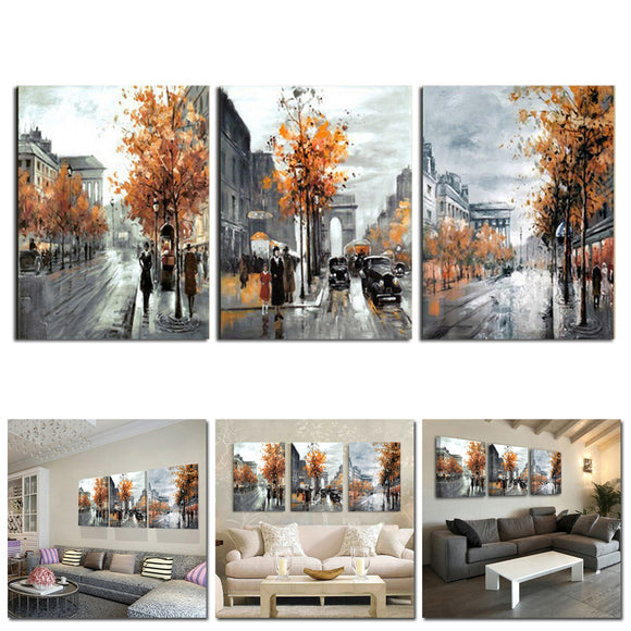 3pcs Unframed Modern Art Oil Painting Print Canvas Picture Home Wall Room Decor