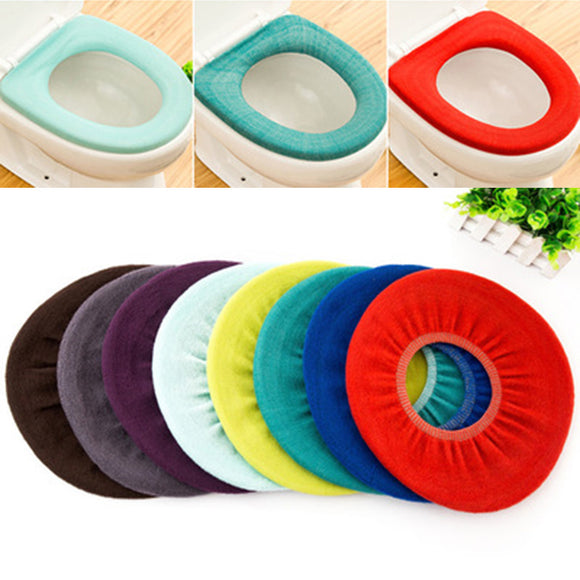 Bathroom Toilet Seat Warmer Cover Soft Mat Washable Closestool Seat Pads NEW DIY