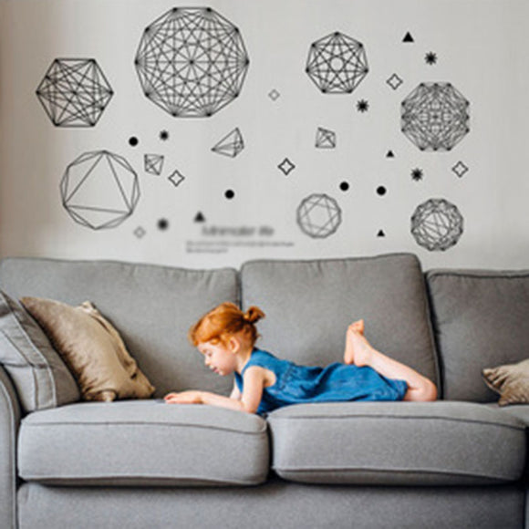 Geometric Polygonal Wall Decal Sticker Decoration For Kids Bedroom Home