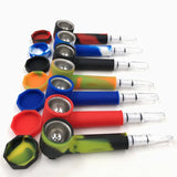 Handy Mini Tobacco Pipe Smoking Pipe Colorful Silicone Herb Cigarette Holder