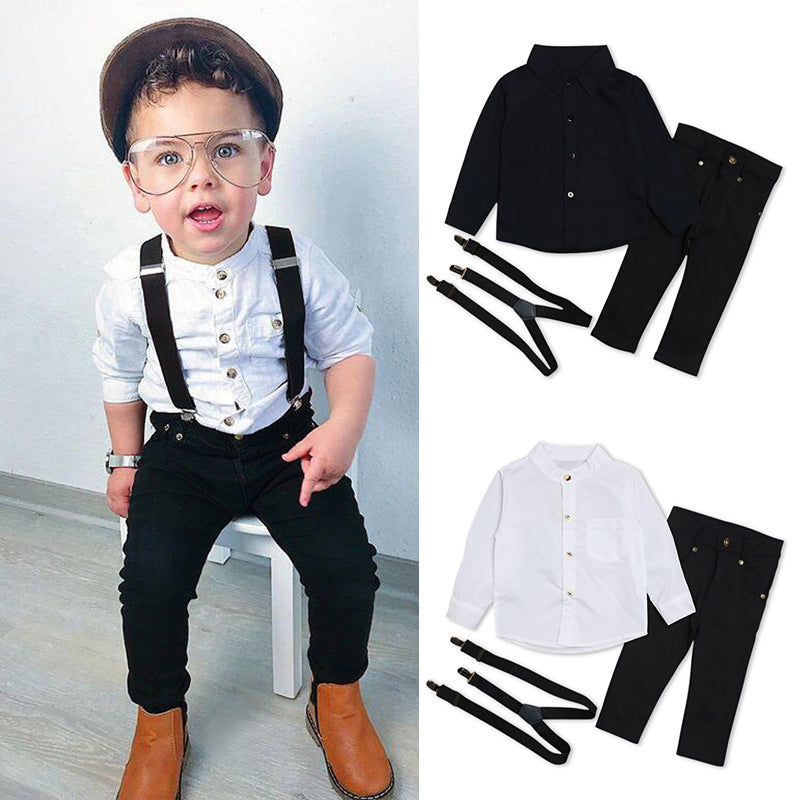 36c75c8e8 1Set Baby Clothes Kids Baby Boys Wedding Party Suit Top+pants Tuxedo  Outfits Set ...