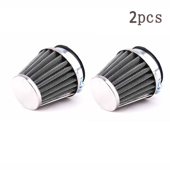2x 60mm Universal Motorcycle ATV Intake Carburetor Air Filters Air Cleaner New