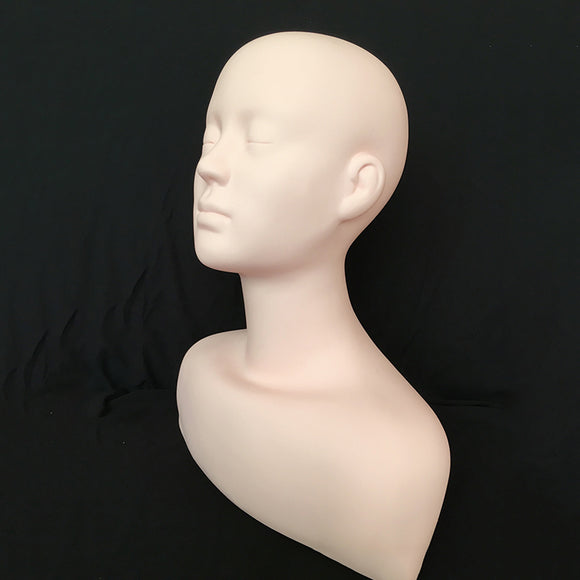 Large PVC Training Mannequin Head shoulder Practice Makeup Massage