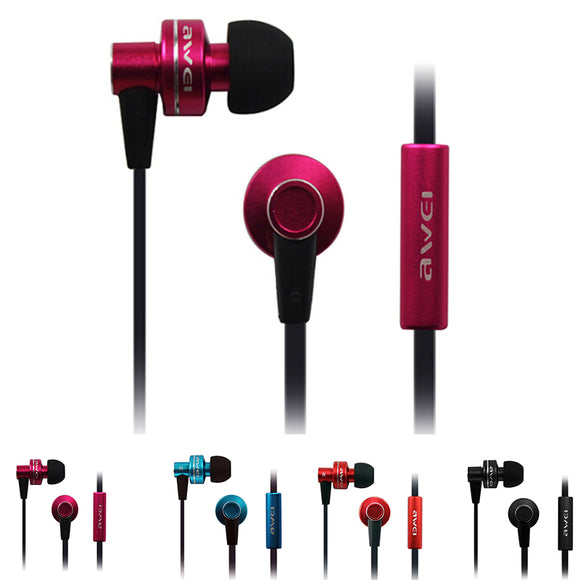 Black Stylish Super Bass In Ear Headset Wired Noise Reduction Ear Headphones